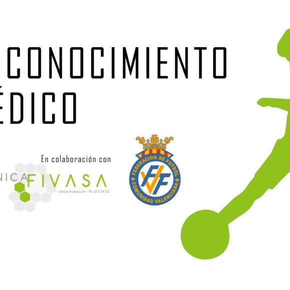 Reconocimientos médicos Federación de Fútbol de la Comunidad Valenciana (FFCV)